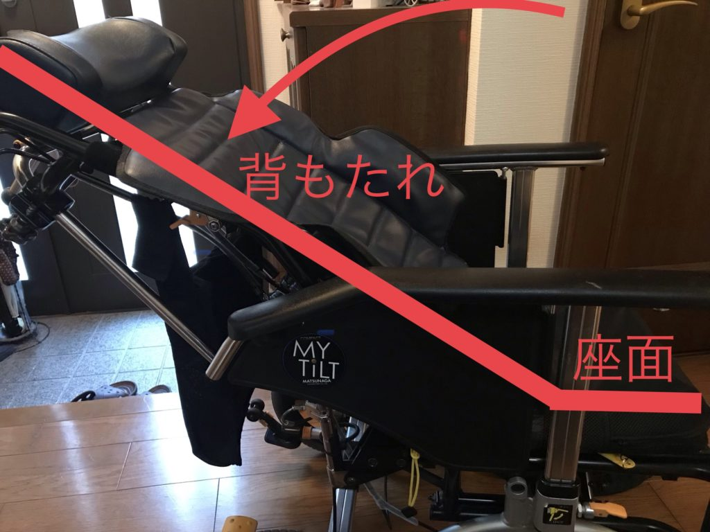 車椅子リクライニング機能