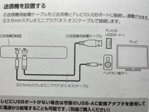 イーサプライ テレビスピーカーの接続図