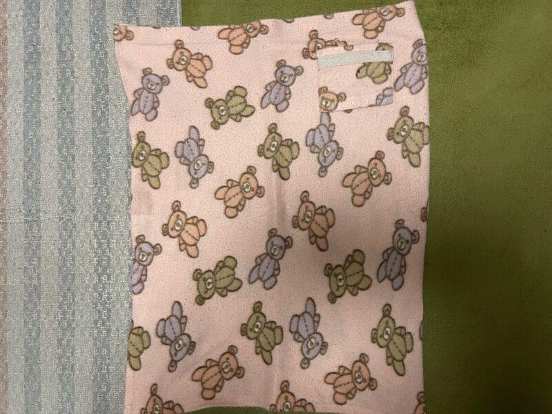 わが家で使用している薄手毛布の巻きスカート2
