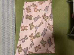 わが家で使用している薄手毛布の巻きスカート