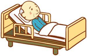 寝たきり要介護者のイメージ図