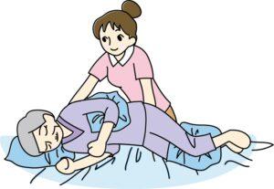 寝たきりの介護イメージ図