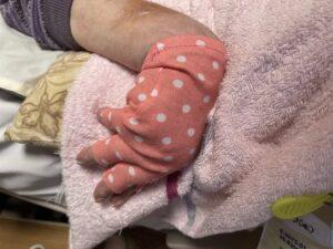 わが家の義母の手